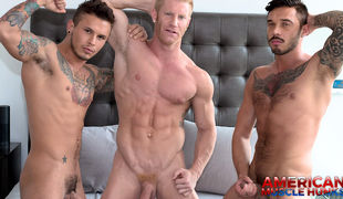 Seth Knight has returned with his fiance, Cris Knight to join Johnny V in the hunk house for a moist 3-way