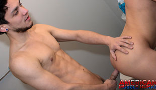 Shawn Andrews outstanding ass and Rex Rogers' minute-long cum shot with ass eating, and strength fucking all in one scene
