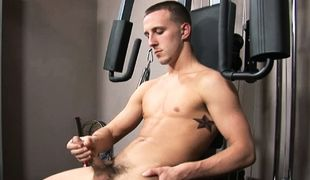 College Dudes - Caleb Young Busts A Nut