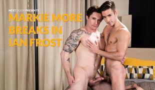Markie More is giddy with excitement for his scene with Ian Frost. Ian, an Argentenian ex-pat currently living in Florida, is a shuffle spoken newbie